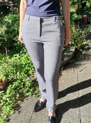 Paramita Woolen Trousers silver-colored-grey