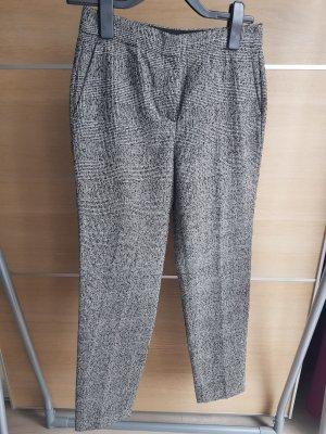 Massimo Dutti Wollen broek wit-zwart
