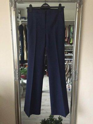 Massimo Dutti Wełniane spodnie ciemnoniebieski Wełna