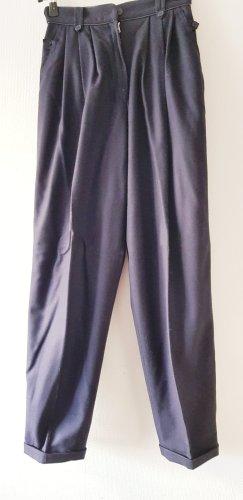 Elkont Pantalone di lana blu scuro