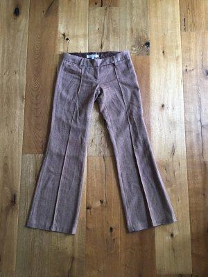 Amisu Pantalone di lana marrone chiaro-marrone scuro Lana