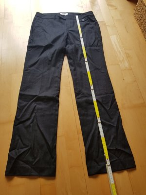 Esprit Pantalón de lana negro-gris antracita