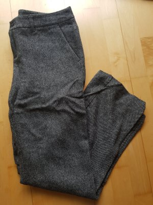 Esprit Pantalón de lana blanco-negro