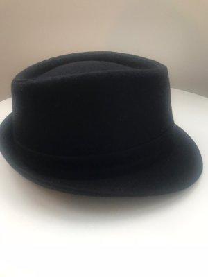 Wollen hoed zwart-bordeaux Wol
