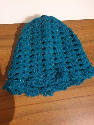 Cappello di lana blu cadetto