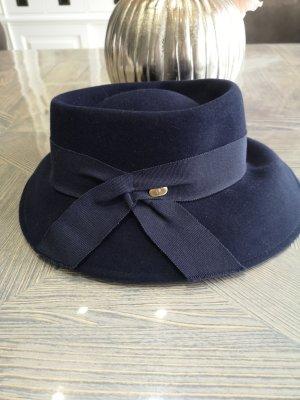 Aigner Sombrero de lana azul oscuro