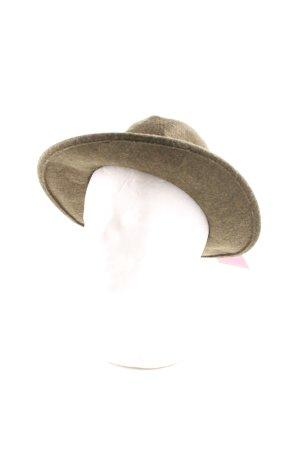 Wollen hoed groen-grijs casual uitstraling