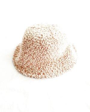Vintage Wollen hoed rosé-stoffig roze