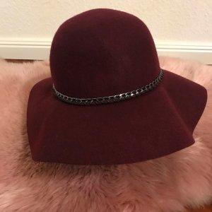 Pimkie Wollen hoed bordeaux-zwart