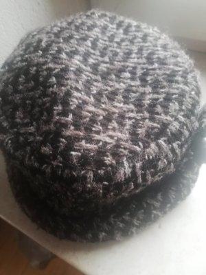 Comma Gorro tejido marrón grisáceo-marrón oscuro