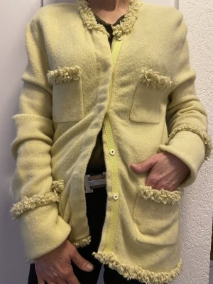 Nice Connection Cardigan in maglia giallo lime