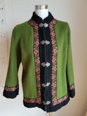 A. S. Evebofoss Norwegian Cardigan green wool