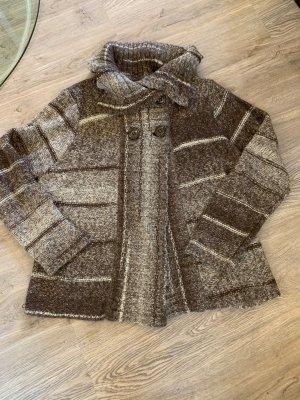 Biaggini Veste en tricot brun-gris brun