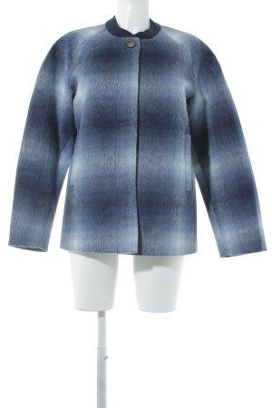 Wolljacke dunkelblau-weiß Farbverlauf extravaganter Stil