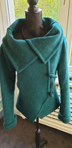 FOX'S Veste en laine bleu pétrole laine