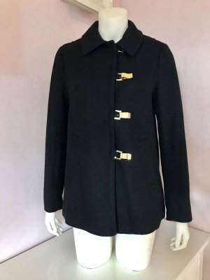H&M Wool Jacket black-gold-colored
