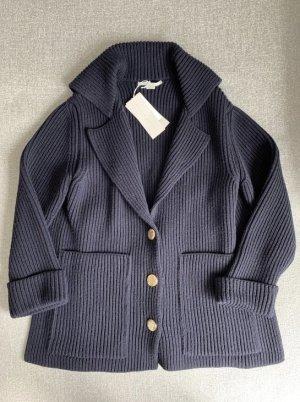 Stella McCartney Knitted Coat dark blue