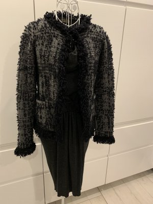 Bruno Manetti Chaqueta de lana gris-gris claro