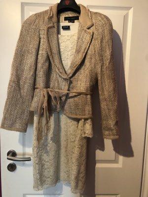Zara Woman Wool Blazer gold-colored-sand brown wool
