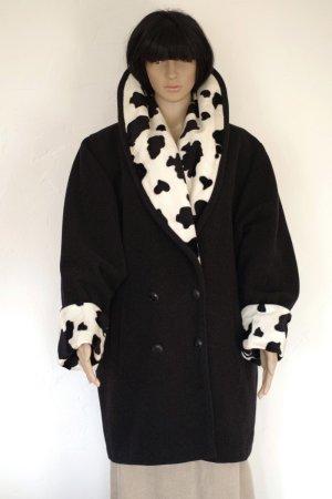 Orsay Kurtka zimowa czarny-biały Poliester