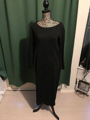 Wollkkleid lang Kleid schwarz