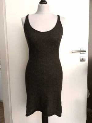 Ikks Vestido de lana gris antracita