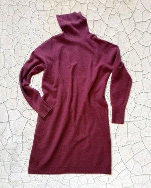 Uniqlo Vestido de lana rojo oscuro-burdeos Lana