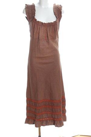 Vestito di lana marrone stile casual
