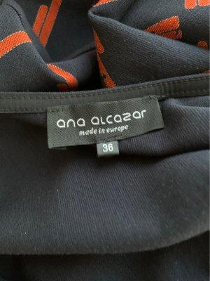 Ana Alcazar Robe à manches longues bleu foncé-rouge carmin