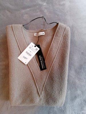 Zara Robe en laine gris brun