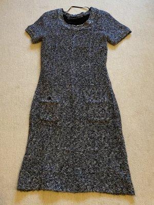 Esprit Vestido de lana negro-blanco