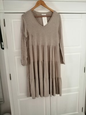 new collection Woolen Dress oatmeal-beige