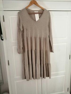 new collection Vestido de lana beige claro-beige