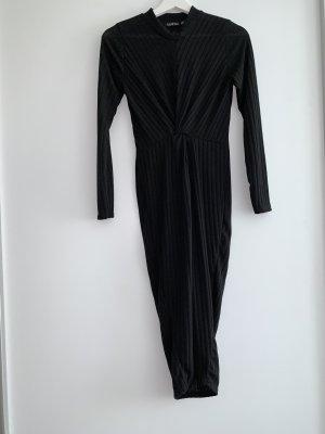 Boohoo Wollen jurk zwart Wol