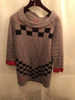 Desigual Vestido de lana multicolor