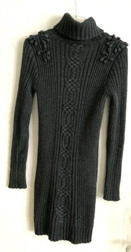 Mango Casual Sportswear Vestido de lana gris antracita