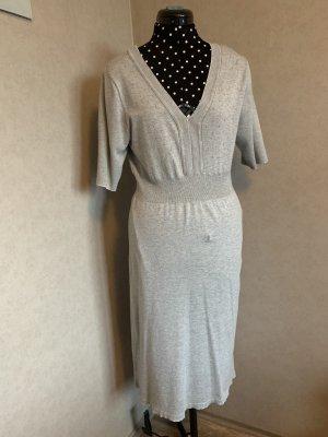 Yessica Wollen jurk lichtgrijs