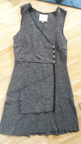 Fransa Robe en laine gris anthracite laine