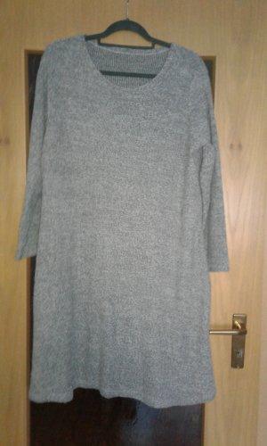 Robe en laine gris clair