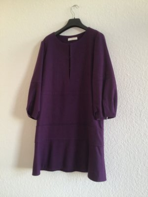 Chloé Woolen Dress blue violet wool