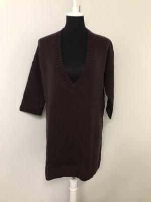 Jil Sander Vestido de lana burdeos-rojo amarronado