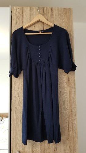 Louise Orop Robe en laine bleu-bleu foncé