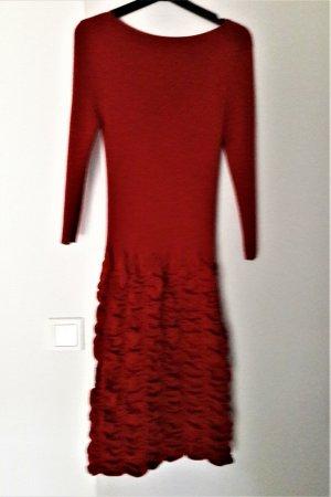 FFC Knitted Dress carmine-bordeaux wool