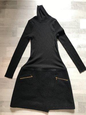 Paule ka Robe en laine noir-doré laine