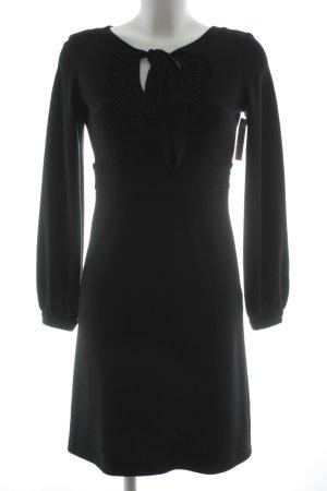 Wollkleid schwarz klassischer Stil