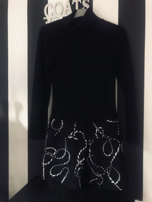 Woolen Dress black-white new wool