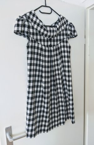 H&M Robe en laine blanc-noir