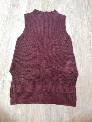 Wollkleid Strick Shirt Top Yessica S bordeaux schwarz Rollkragen Kleid