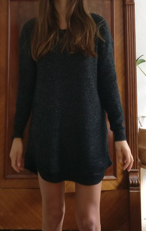 Wollkleid Strickkleid oversized Wollpulli grau