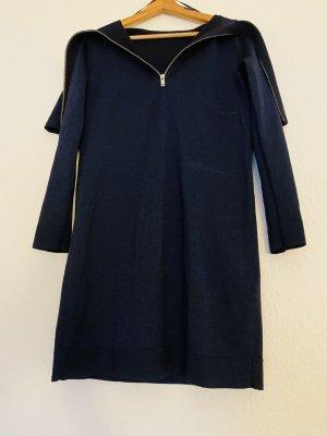 COS Woolen Dress silver-colored-dark blue